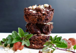 Cacao Mint Black Bean Hazelnut Brownies | Vegan