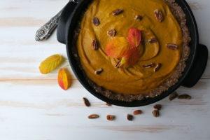 Vegan Mostly Raw Pumpkin Pie
