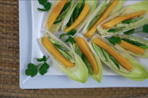 Thai Cashew Cream Cheese Endive Boats | Raw Vegan