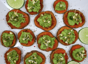 Sweet Potato Guacamole Bites