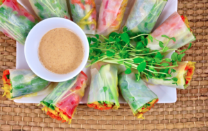 Veggies For Dayz Rice Paper Rolls with Tahini Lime Dip