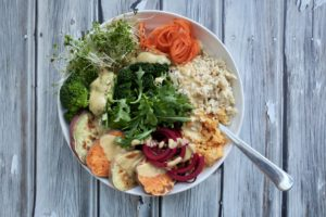 Miso Sweet Potato Glory Bowl of Goodness | (highly addictive dressing)