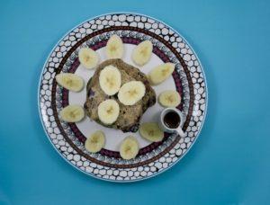 Turmeric Blueberry Banana Pancakes