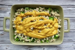 Butternut Mac & Peas + Vegan Parmesan