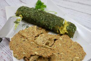 Vegan Turmeric Cheese Log