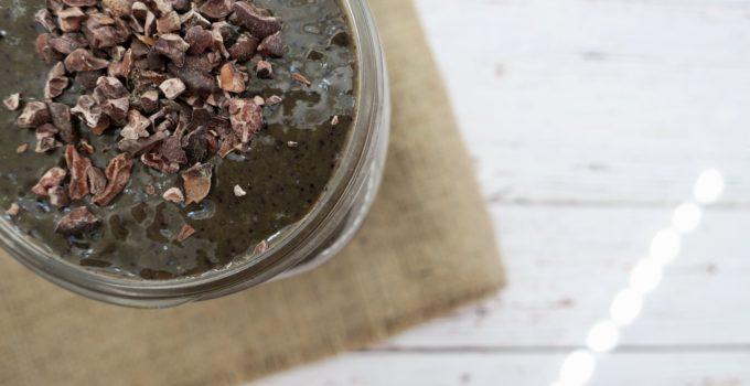 Chocolate Blueberry Turmeric Smoothie