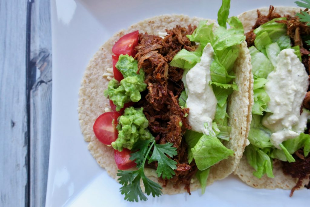 No-Pork Pulled Jackfruit Tacos