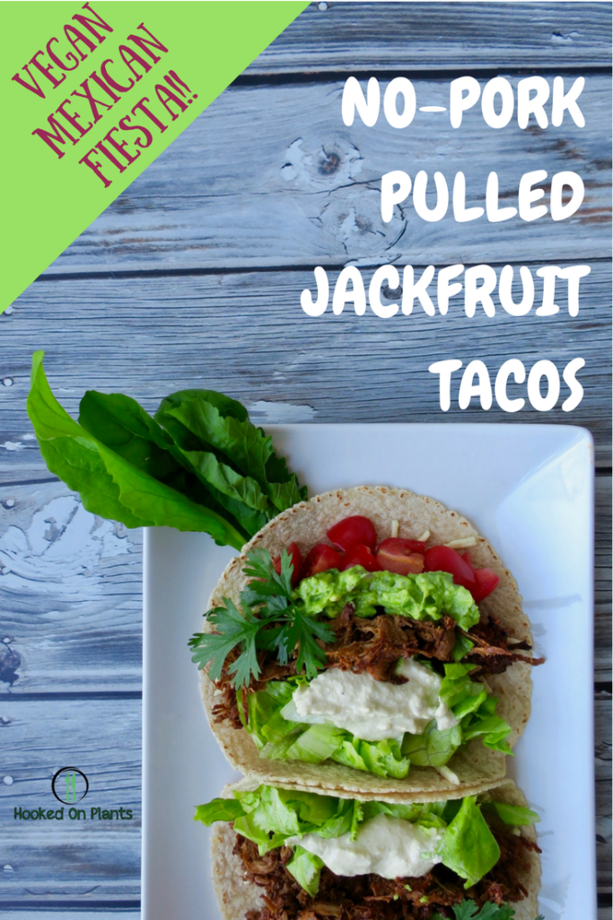 Vegan Jackfruit BBQ tacos! Mexican fiesta time.