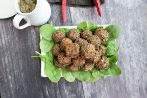 Meatless Balls + Mushroom Gravy   Oil-Free Vegan Thanksgiving Main
