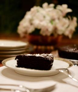 Vegan SacherTorte aka Dense Chocolate Cake