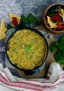 Creamy Vegan Spinach Artichoke White Bean Dip | 8 Ingredients