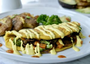 Vegan Omelette (what?!) + Cashew Hollandaise Sauce