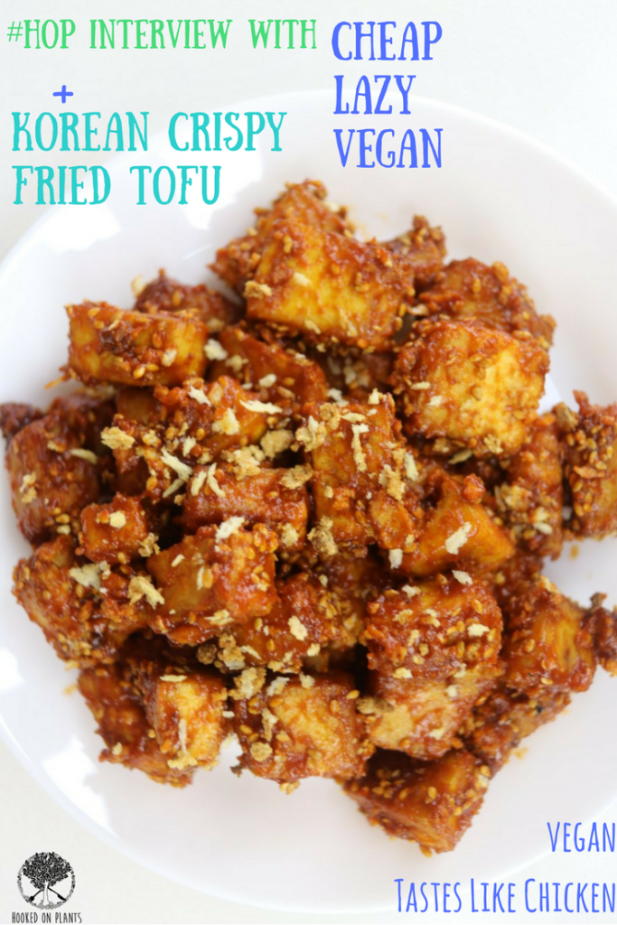 Spicy Korean Fried Chicken-Style Tofu