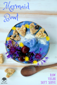 Mermaid Bowl ~ Raw Vegan Soft Serve with Boosh Chunks