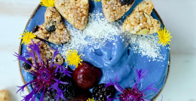 Mermaid Bowl ~ Raw Vegan Soft Serve with Boosh Chunks
