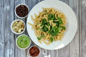 Vegan Hemp Pesto Pasta Salad | GF + Oil-Free + Ready in 20