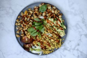 Simple Tofu Scramble + Breakfast Taters | Plant-Based Weekend Brunch