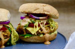Quarter Pounder Red Lentil Rice Veggie Burgers | Gluten-Free