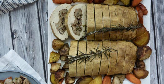 Grateful Fred Stuffed Tofu Turkey   Vegan Holiday Feast