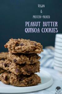 Peanut Butter Quinoa Cookies | Vegan + Protein Packed