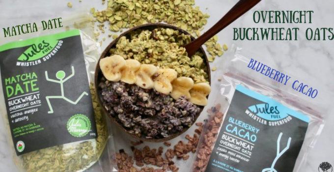 Matcha Date Overnight Buckwheat Oats | 2 Ways