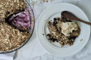 The Easiest Blueberry Crisp | Vegan + Gluten Free