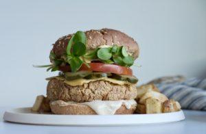 Tempeh Pinto Bean Grillable Vegan Burgers | Oil-Free & Gluten-Free