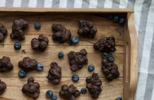 Pop-in-your-Mouth Chocolate Blueberry Clusters | Easy Vegan Dessert