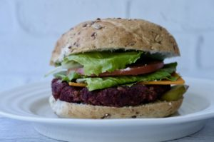The Happiness Burger | Smokey Tempeh Beet Rice Patties
