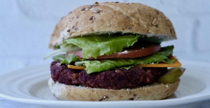 The Happiness Burger | Smokey Tempeh Beet Rice Patties