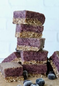 Refreshing No-Bake Blueberry Bliss Bars | Raw Vegan