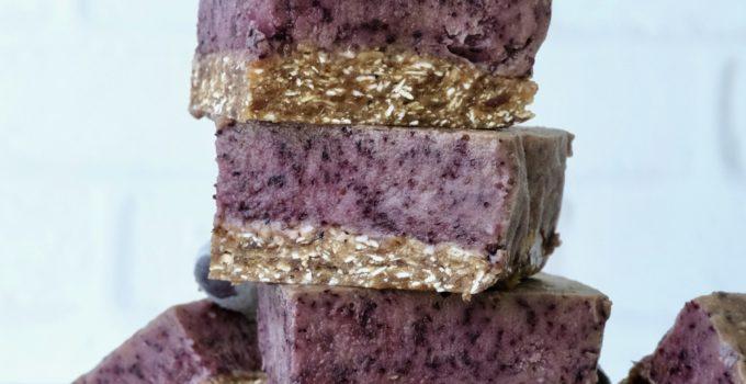 Refreshing No-Bake Blueberry Bliss Bars | Raw Vegan