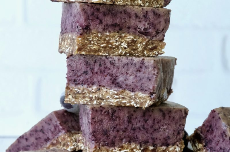 No-Bake Blueberry Bliss Bars | Raw Vegan