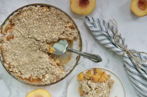 Basic Vegan Peach Crisp | 10 Ingredients