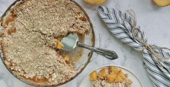 Basic Vegan Peach Crisp | 10 Ingredients