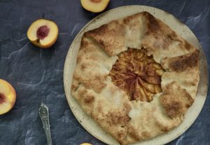 The Dessert Queen's  Basic Veganized Peach Galette | Mom's Specialty