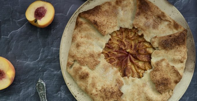 The Dessert Queen's  Basic Veganized Peach Galette | Mom's Specialty