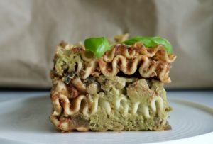 The Wild Mushroom Green Vegan Lasagna with 2 Multi-Purpose Sauces