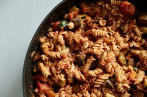 Creamy Vegan Red + White Sauce BBQ Pasta + 10 Reasons to DITCH DAIRY